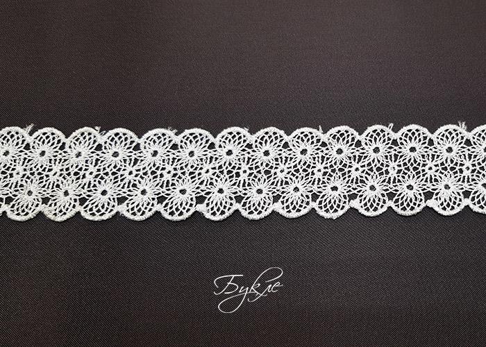 Кружево Белое Снежинки 30мм