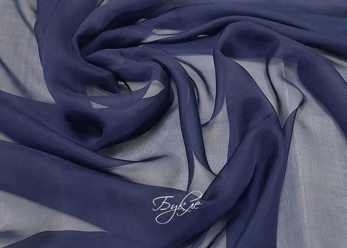 Шелк Шифон Темно-Синий