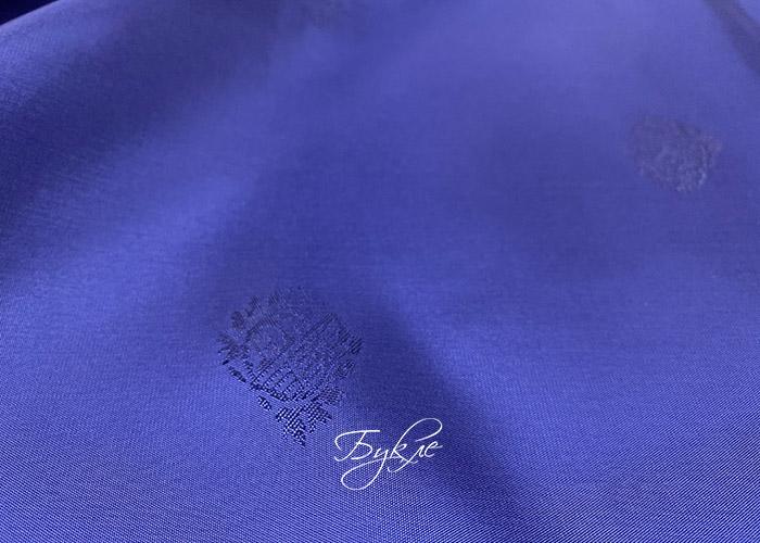 Подкладка Жаккард Синяя с Печатями