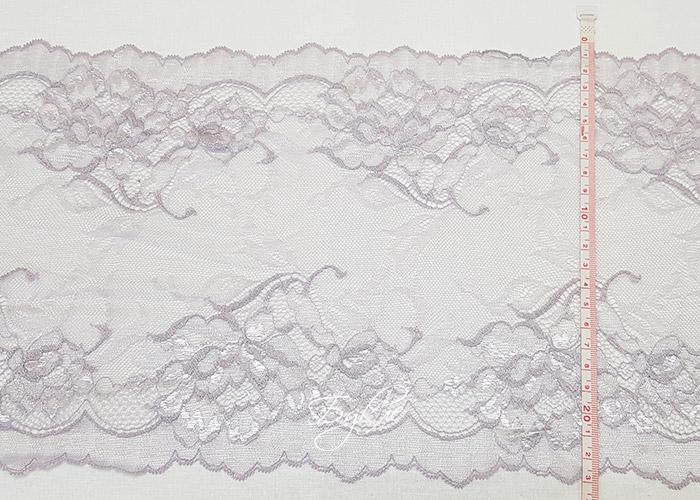Кружево Стрейч Крупный Цветок Сиреневое 220мм