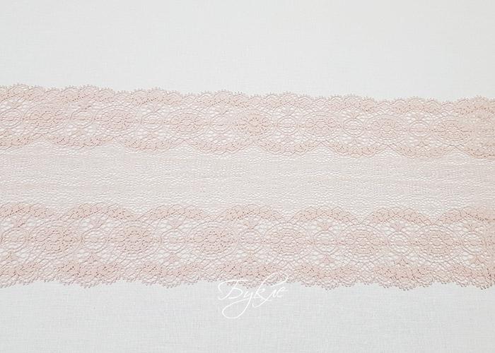 Кружево Стрейч Светло-Розовое Макраме 150мм